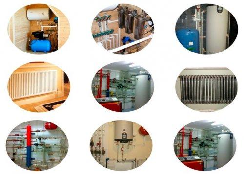 Монтаж отопления, водоснабжения, обвязка котлов.